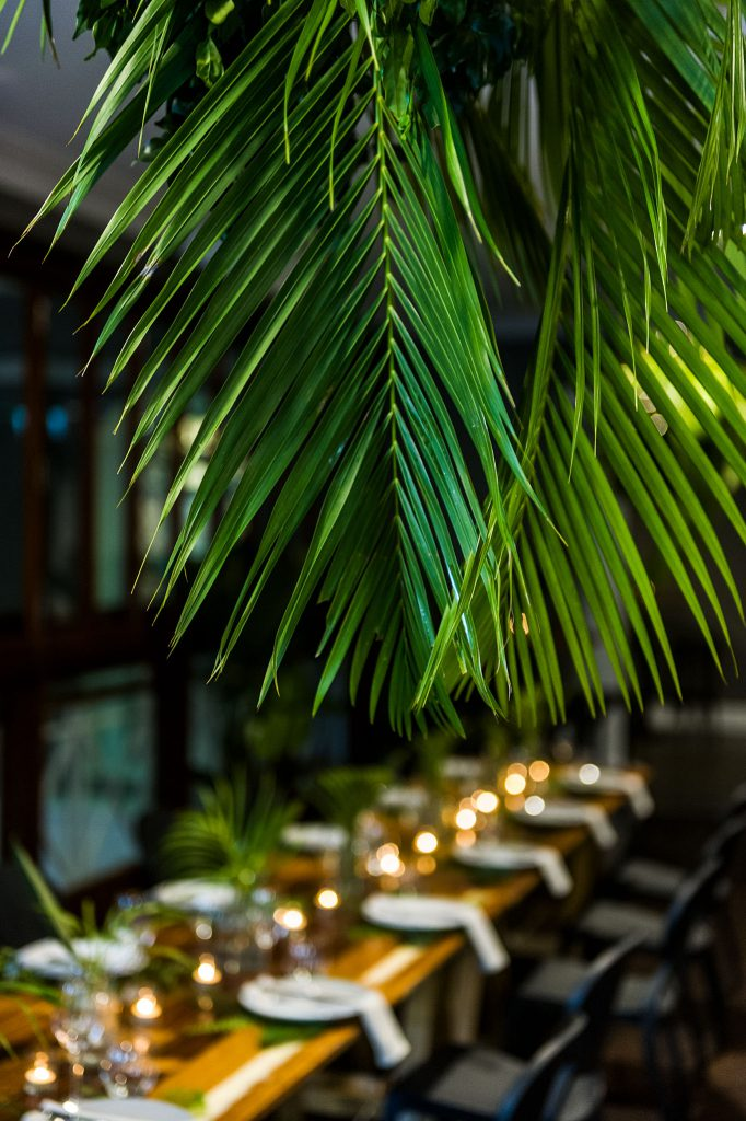 corporate styling with greenery